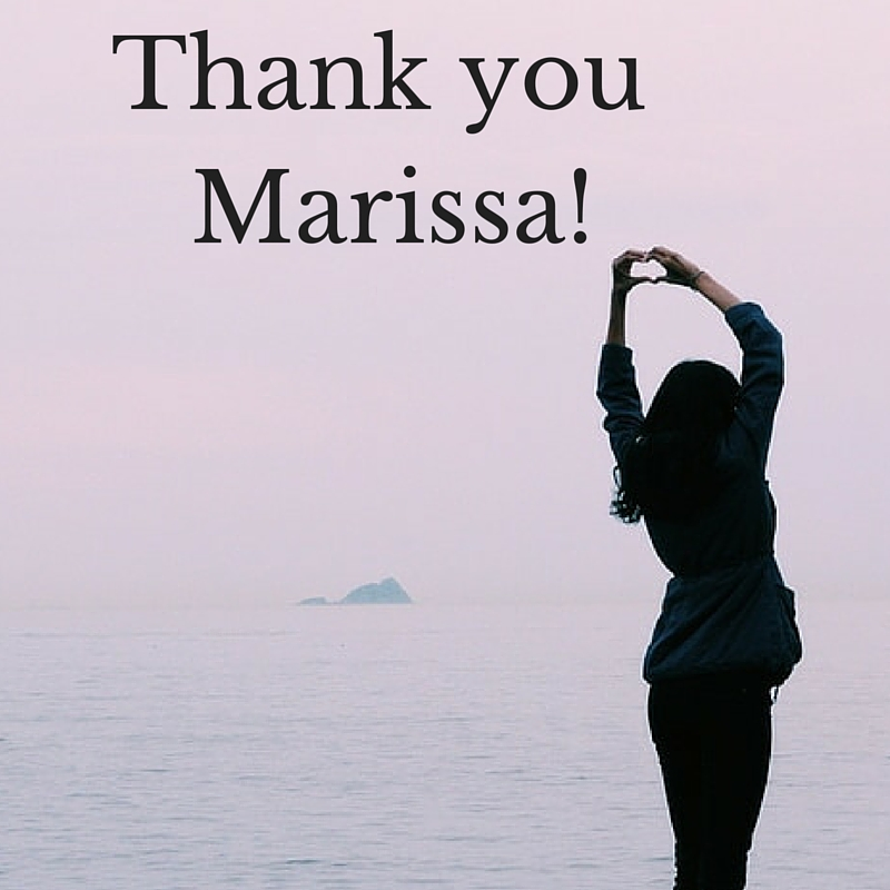 Thank you marisa!