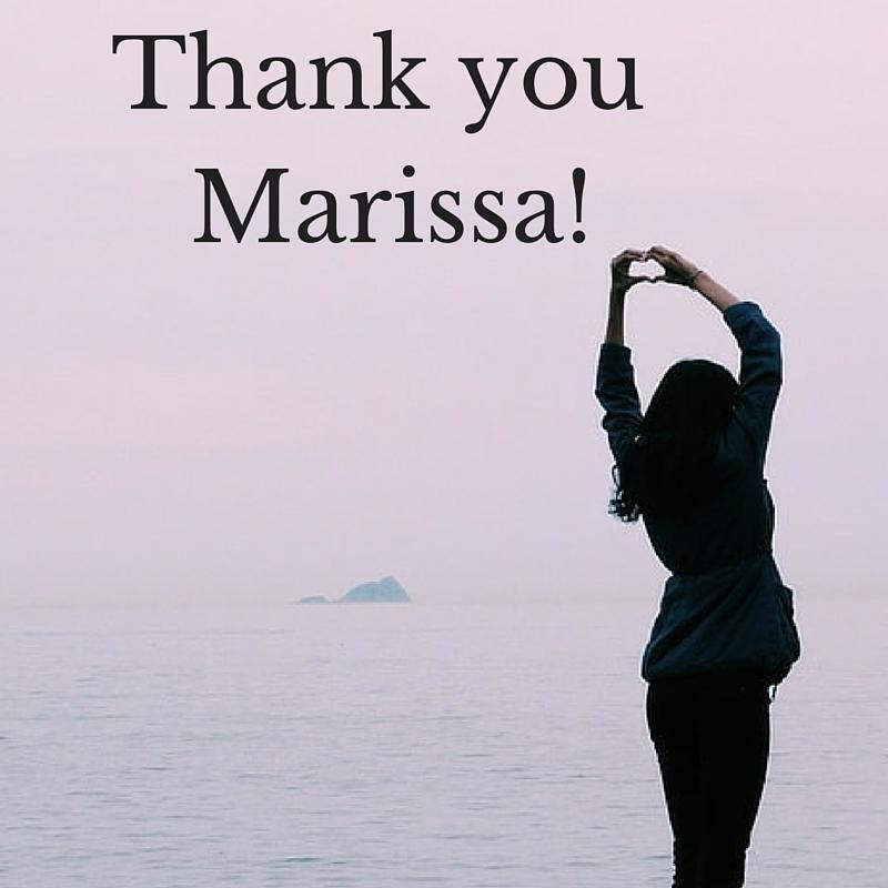 Thank you marisa!