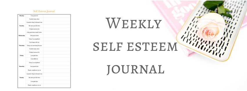Weekly self esteem journal for blog