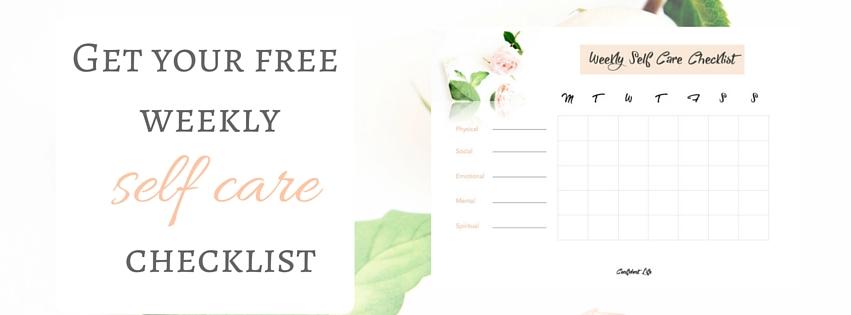 self care checklist